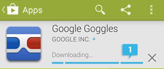 Contoh progresbar menunjukan proses download aplikasi