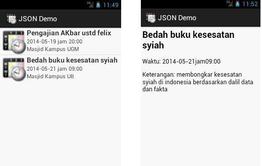 Demo Webservice JSON Android PHP MySQL
