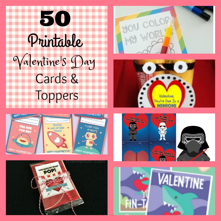 50 Printable Valentine's Day Cards