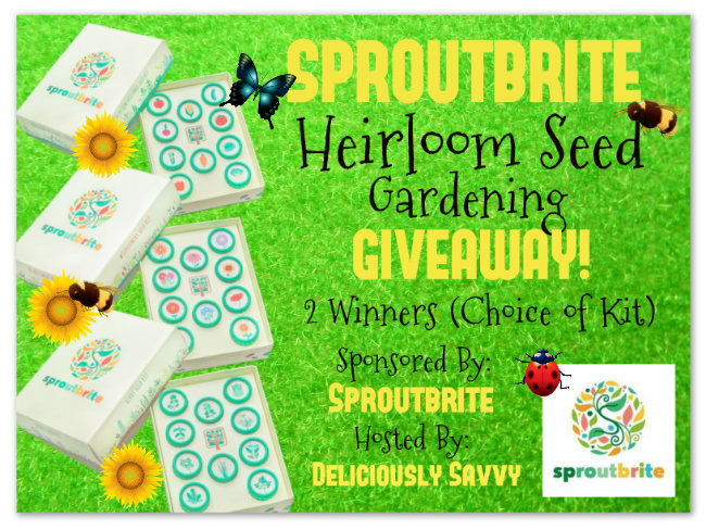 Sproutbrite Heirloom Seed Gardening #Giveaway Ends 3/9 2 Winners