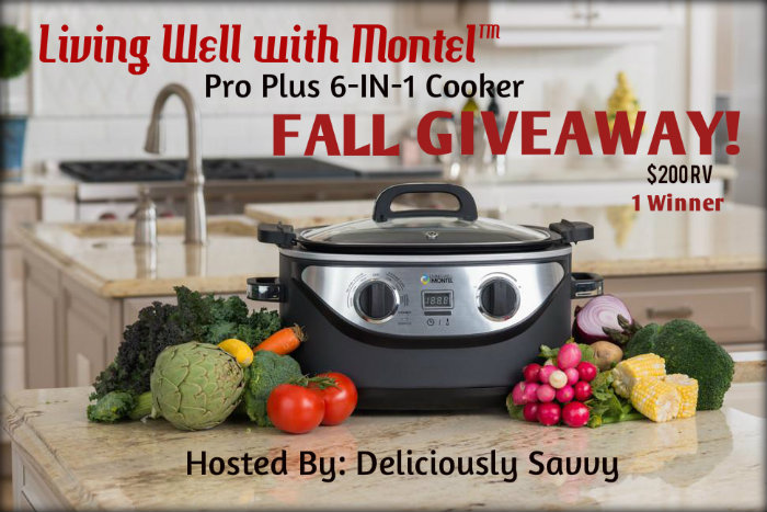 Living Well with Montel Pro Plus 6-in-1 Cooker Fall Giveaway Ends 10/26