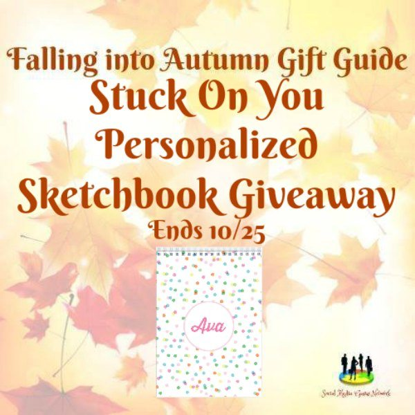 Stuck On You Personalized Sketchbook #Giveaway Ends 10/25