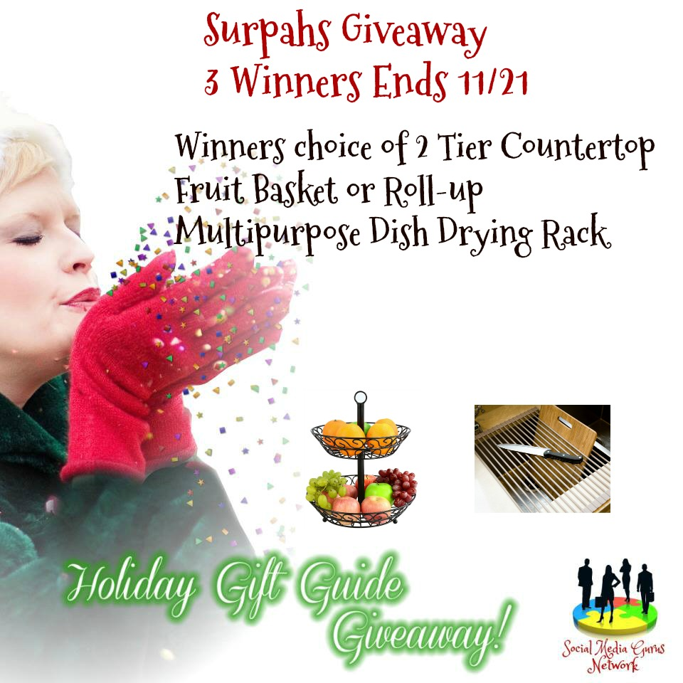 Surpah's #Giveaway with 3 Winners Ends 11/21