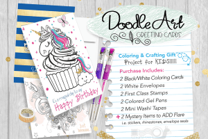 The Doodle Art Greeting Cards by CraftyKizzy #Giveaway Ends 12/4