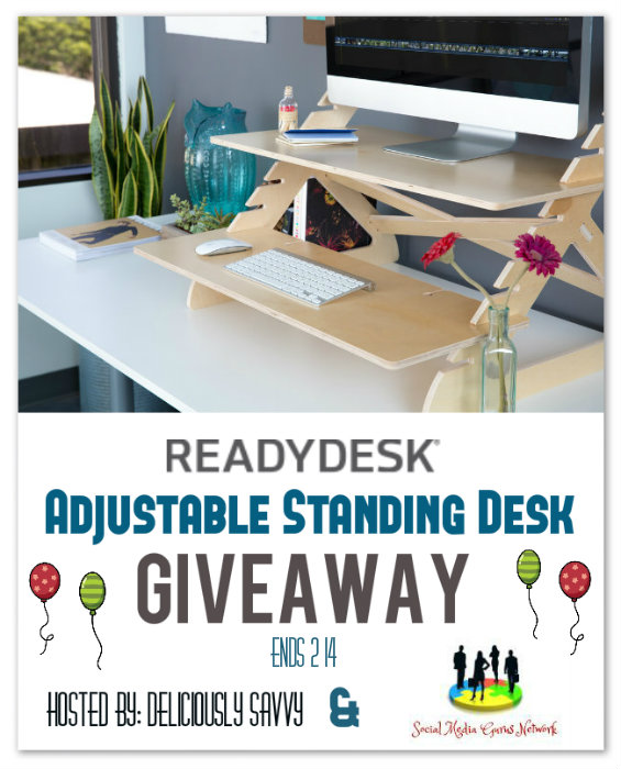 Readydesk Adjustable Standing Desk Giveaway Ends 2/14
