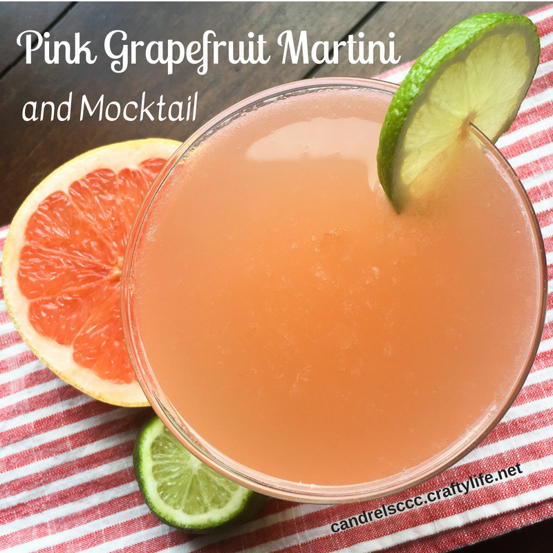 Indulge in a Pink Grapefruit Martini with Mocktail Version