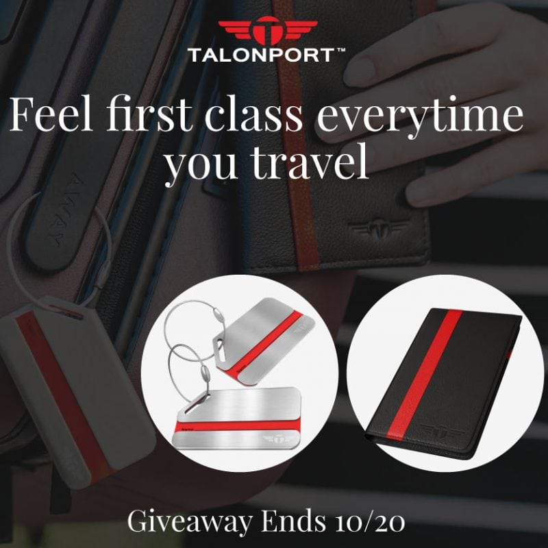 Feel First Class Every Time You Travel #Giveaway Ends 10/20