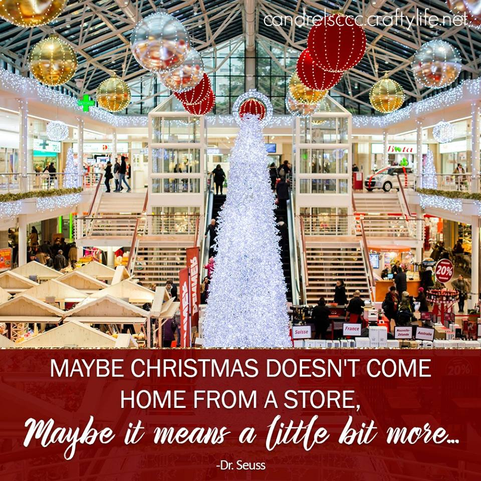 Maybe Christmas doesn't come home from a store