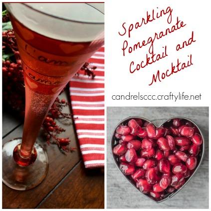 Enjoy a Sparkling Pomegranate Cocktail and Mocktail!