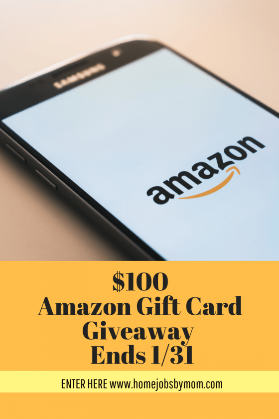 January $100 #AmazonGiveaway Ends 1/31 #HomeJobsByMom