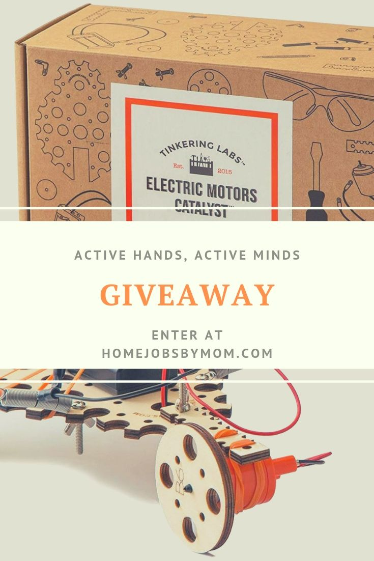 Active Hands, Active Minds #Giveaway Ends 7/14 @homejobsbymom @TinkeringLabs #STEM #TinkeringForAll