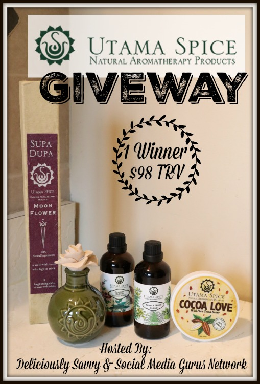 Enter the @UtamaSpiceUS Natural Aromatherapy #Giveaway Ends 9/5 @SMGurusNetwork
