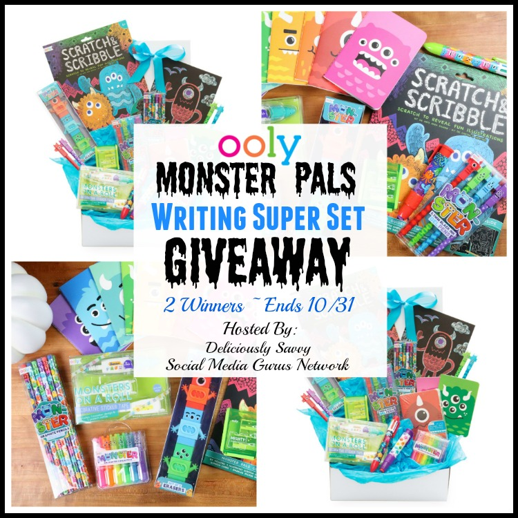 #OOLY Monster Pals Writing Super Set #Giveaway 2 Winners Ends 10/31 @SMGurusNetwork