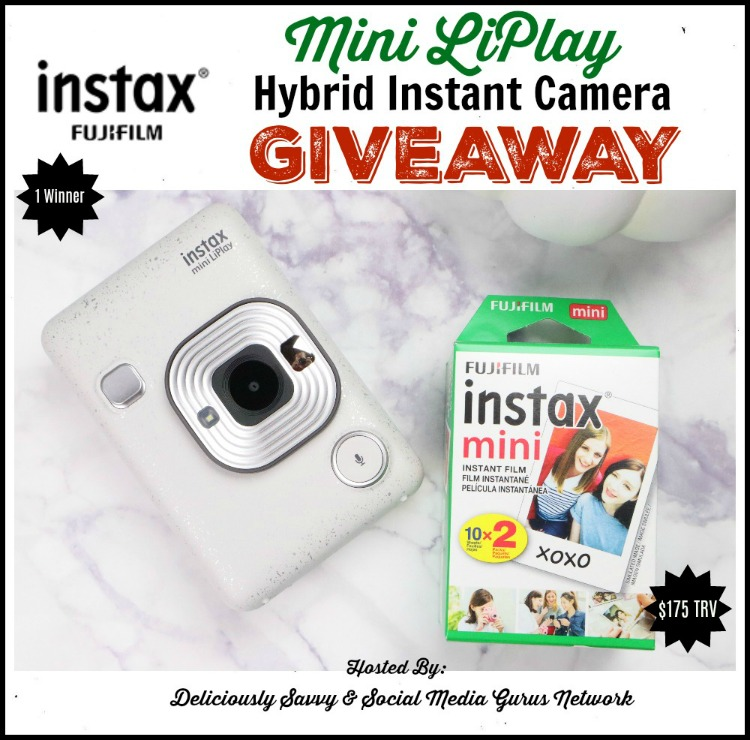 Instax Mini LiPlay Instant Hybrid Camera #Giveaway Ends 12/22