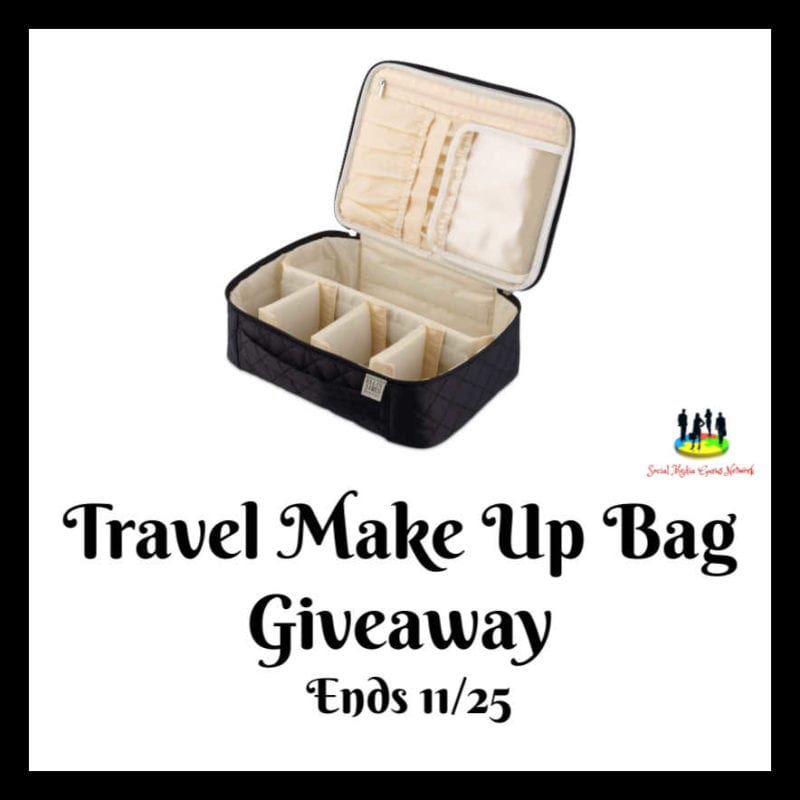 Travel Makeup Bag #Giveaway Ends 11/25 @EllisJamesD @SMGurusNetwork @las930