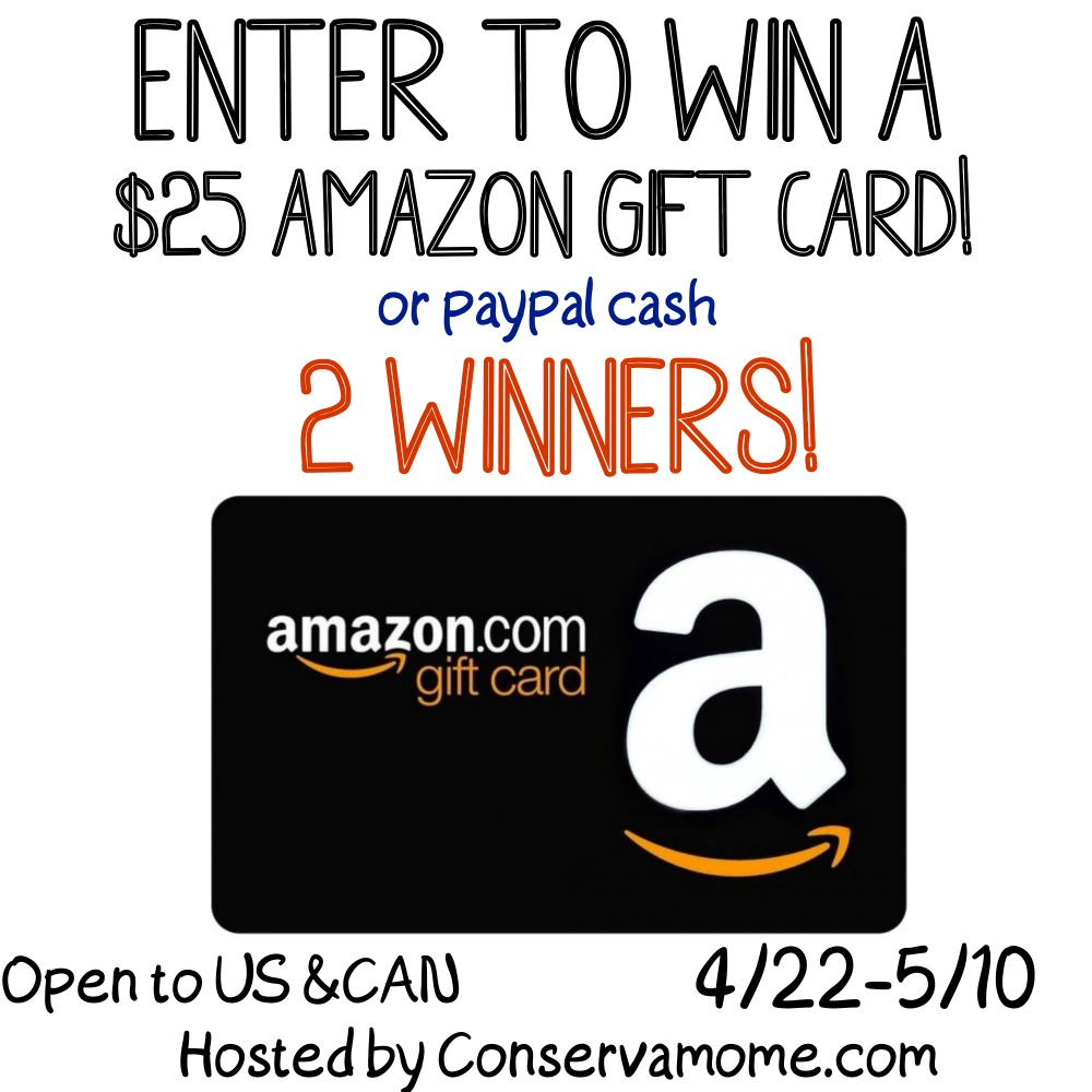 $25 Amazon Gift Card or Paypal Cash #Giveaway Ends 5/10