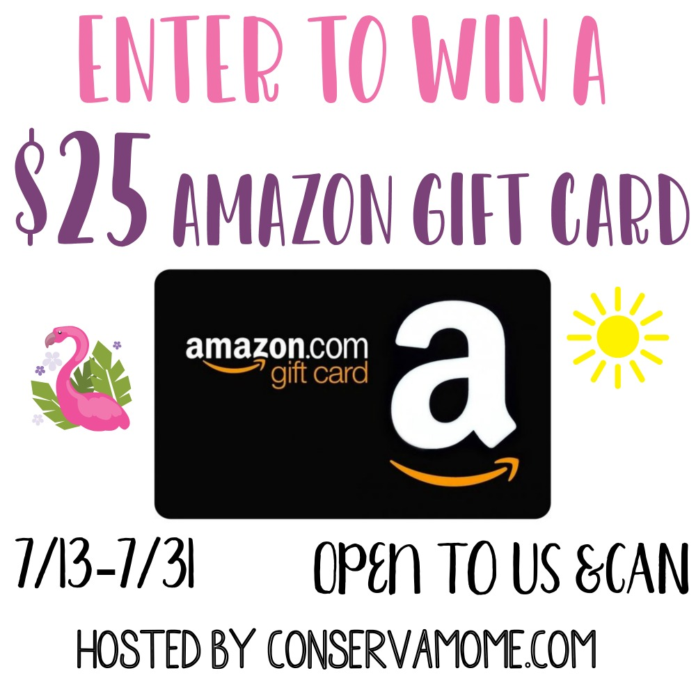 July $25 Amazon Gift Card #Giveaway Ends 7/31 with @conservamome