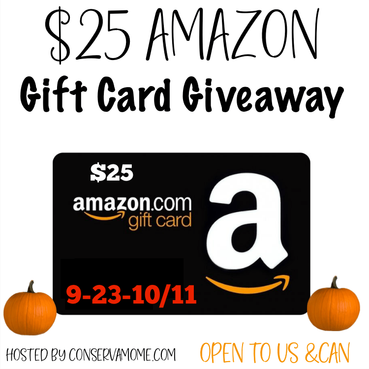 Fall $25 Amazon Gift Card #Giveaway Ends 10/11