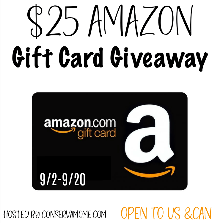 $25 Amazon Gift Card #Giveaway Ends 9/20