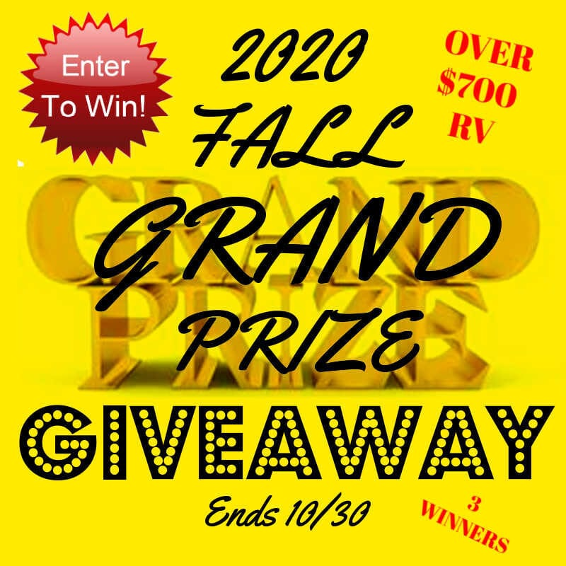 2020 Fall Grand Prize #Giveaway 3 Winners! Ends 10/30 @las930
