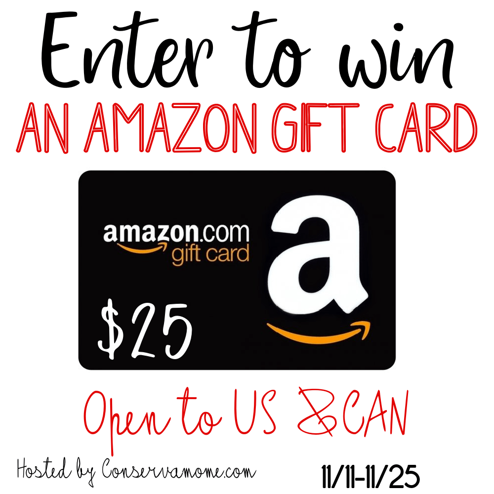 November $25 Amazon Gift Card #Giveaway Ends 11/25 @conservamome