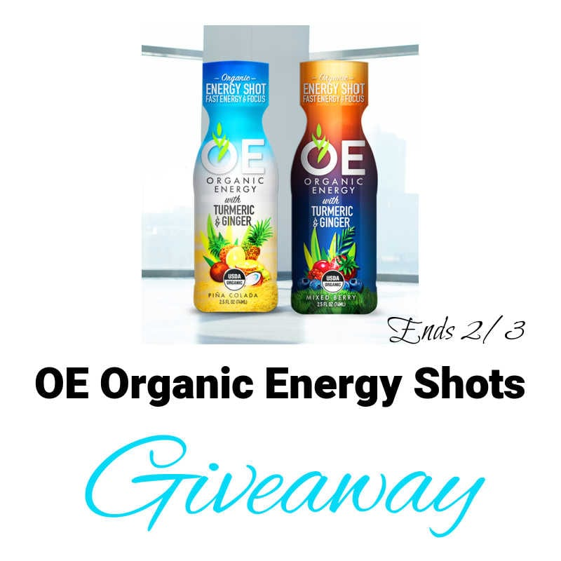 OE Organic Energy Shots #Giveaway Ends 2/3 @las930