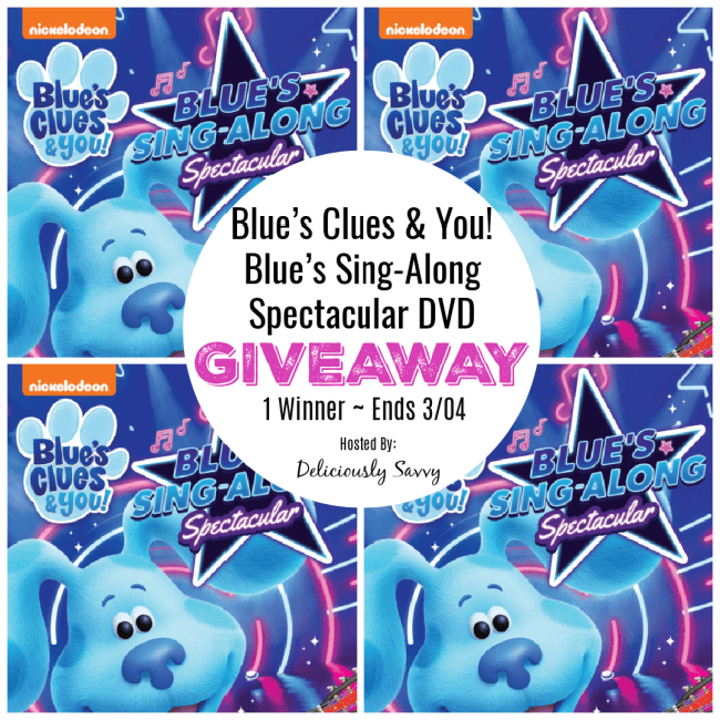 Blues Clues & You! Blue's Sing-Along Spectacular DVD #Giveaway Ends 3/4 @deliciouslysavv @nickelodeon