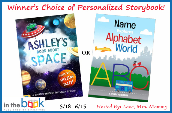 In the Book Personalized Storybook #Giveaway Ends 6/15