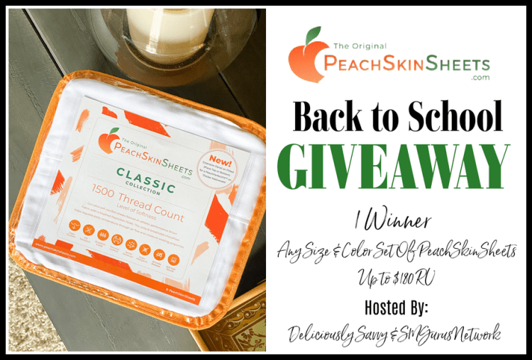 Enter the @PeachSkinSheets Back to School #Giveaway Ends 9/1 @DeliciouslySavv
