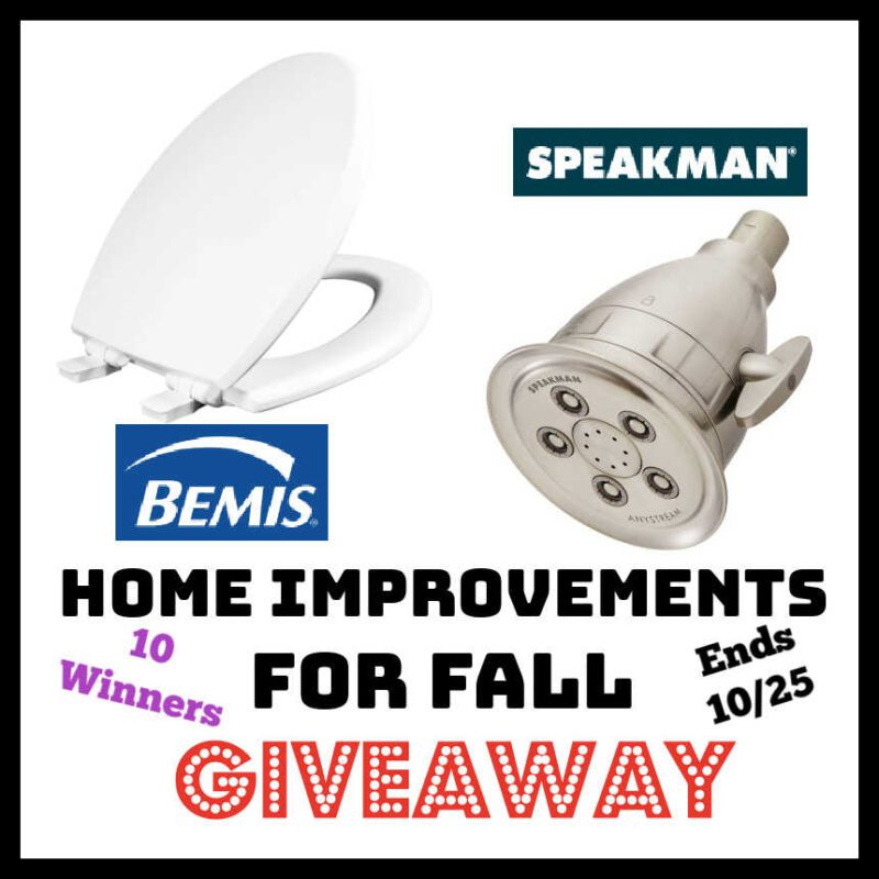 Home Improvements for Fall #Giveaway – 10 Winners! – Ends 10/25 @las930 @SpeakmanCompany @toiletseats