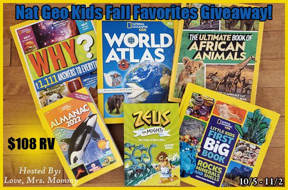 Nat Geo Kids Fall Favorites #Giveaway Ends 11/2