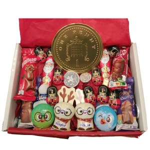 Christmas Chocolate Hamper Coin Large The Candy Cabin Traditional Online Sweet Shop
