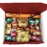 Lindt Small Christmas Bear Hamper - The Candy Cabin Traditional Online Sweet Shop