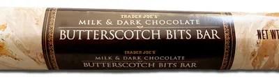 Trader Joe's Milk & Dark Chocolate Butterscotch Bits Bar