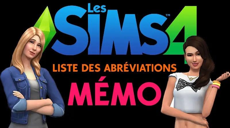 liste des extensions Sims 4