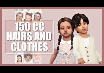 ▷ Collection de CC Maxis Match pour Bambins + Enfants par Angie