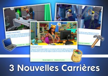 ▷ 3 Nouvelles Carrières pour les Sims 4