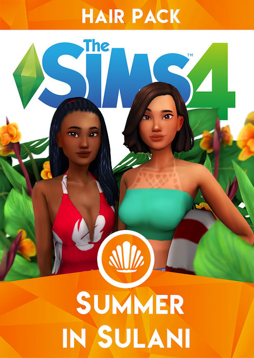 pack coiffures summer in sulani sims 4
