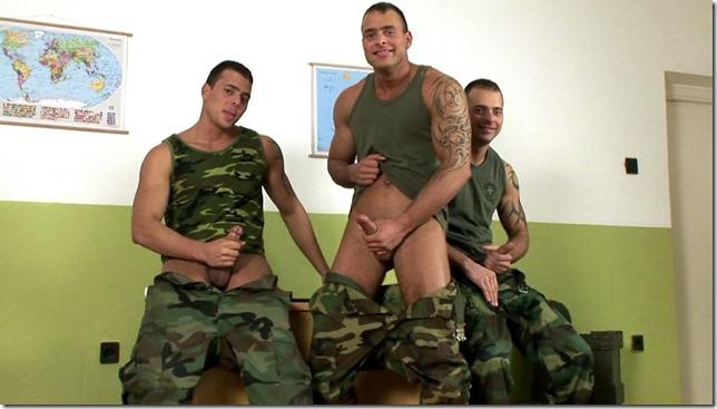 visconti triplets Military Treesome Solo