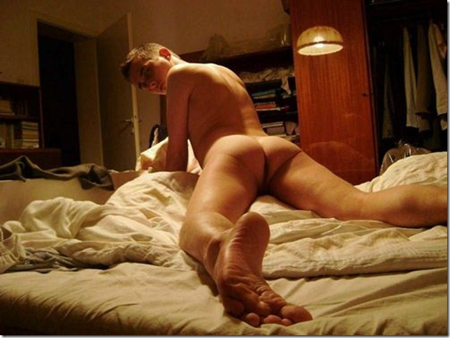 Naked Horny Boy Posing for Girlfriend