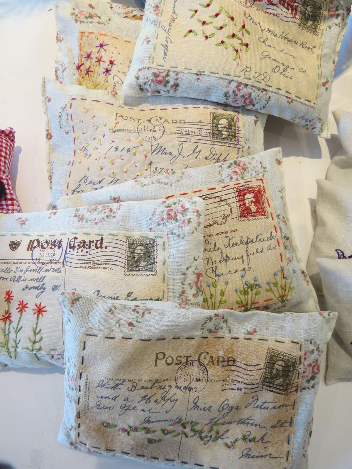 postcard sachets