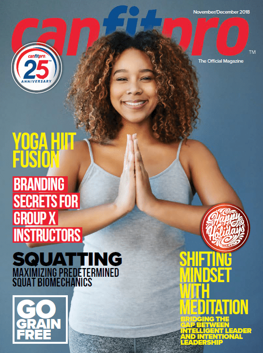 canfitpro Magazine | Nov/Dec 2018 cover