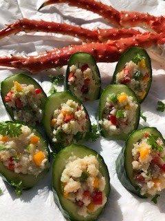 Crab Cucumber Cups