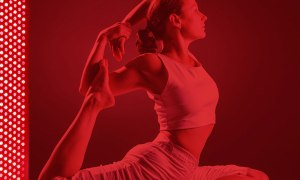 Yoga Time in red room