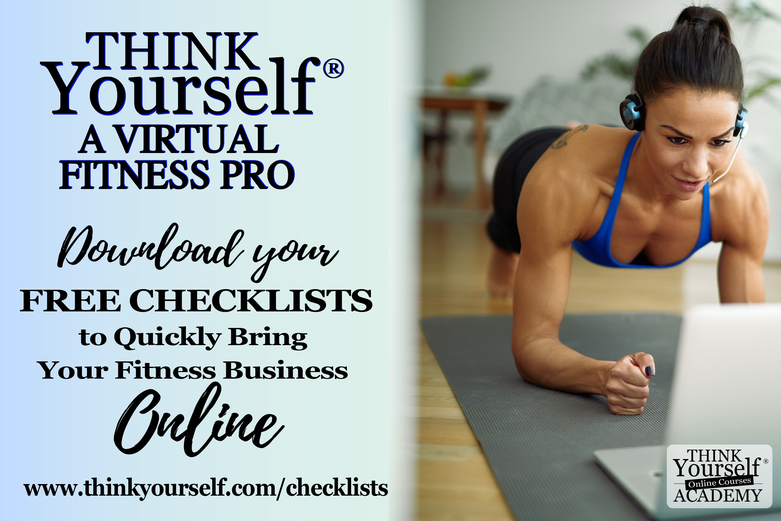 Think yourself academy ad banner