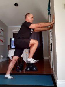Wall Plank March & Calf Stretch
