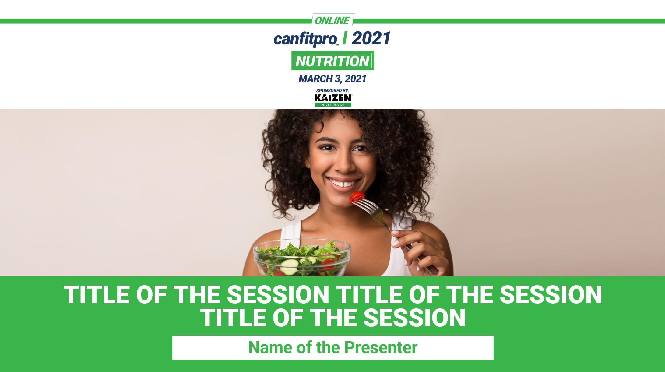 Nutrition event presenter slides