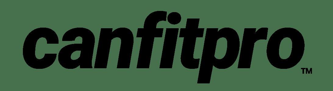 canfitpro logo black and white