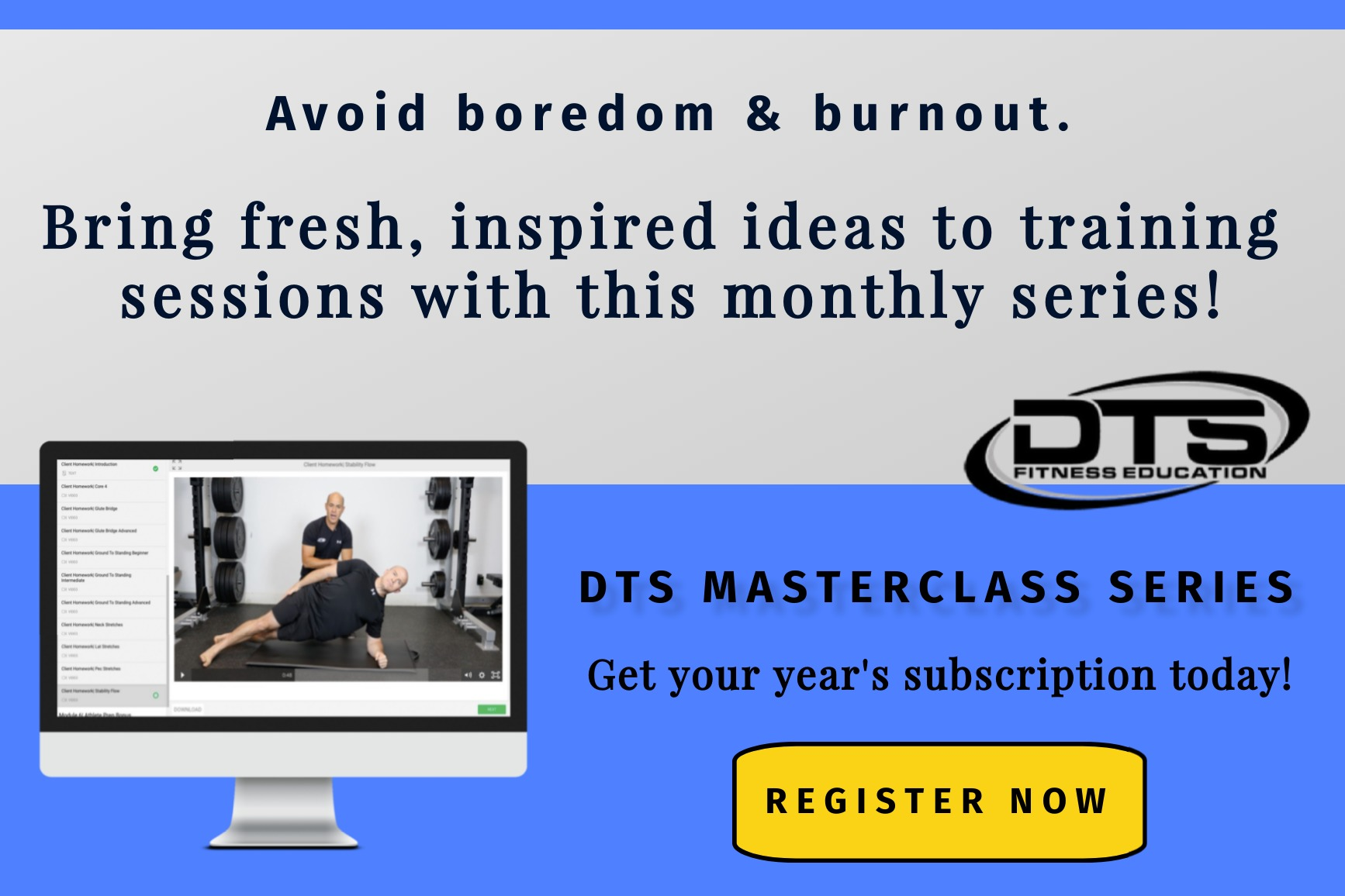 DTS ad banner