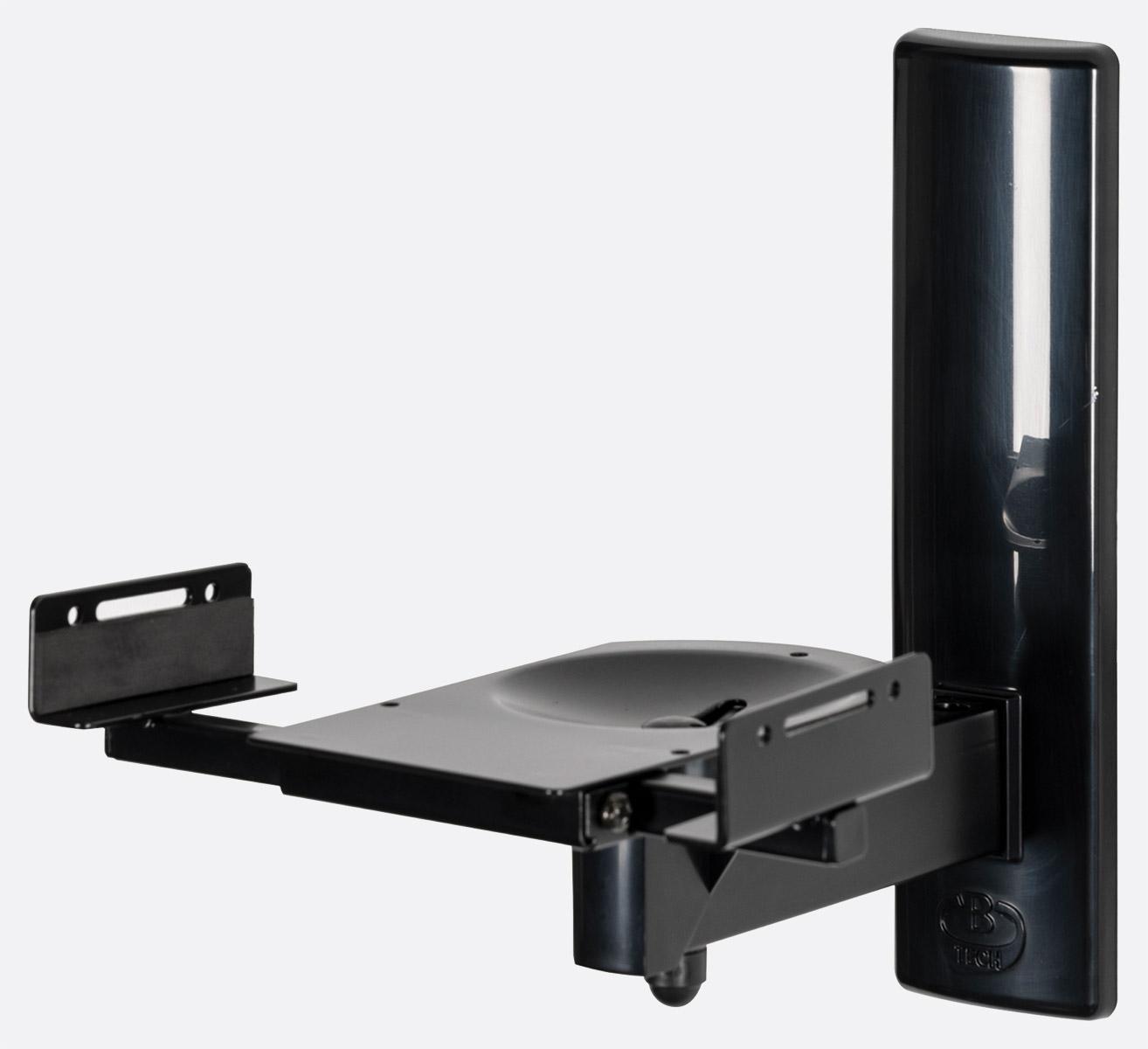 b tech bt15 support mural enceinte enceinte central 15kg max 2x supports noir en l noir